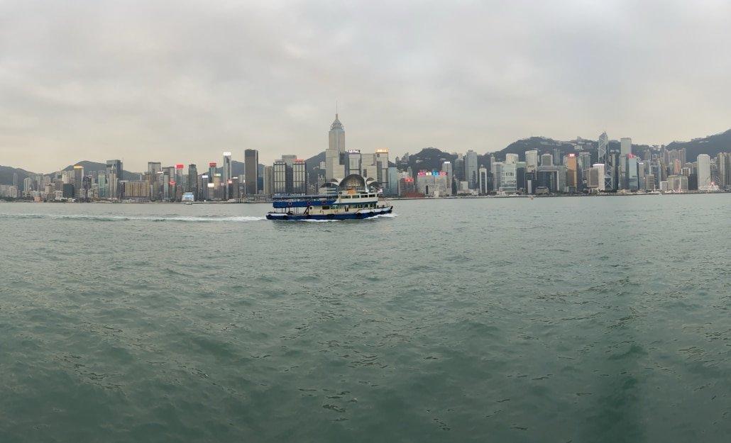 Skyline Hong Kong Island bei Tag